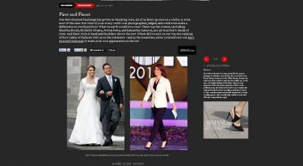 Angélica Rivera en la publicación en línea de Vanity Fair.